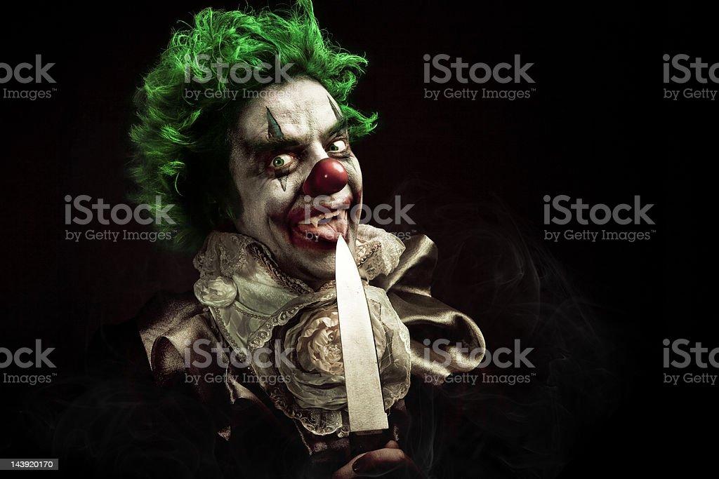 Evil Vampire Clown royalty-free stock photo