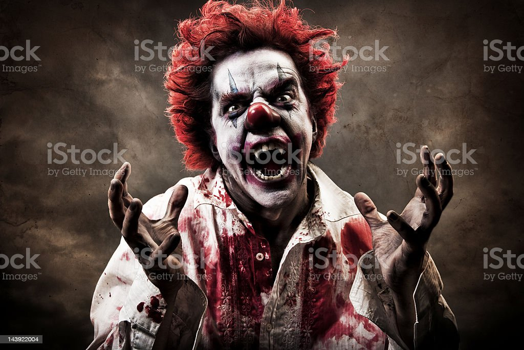 Evil Vampire Clown stock photo