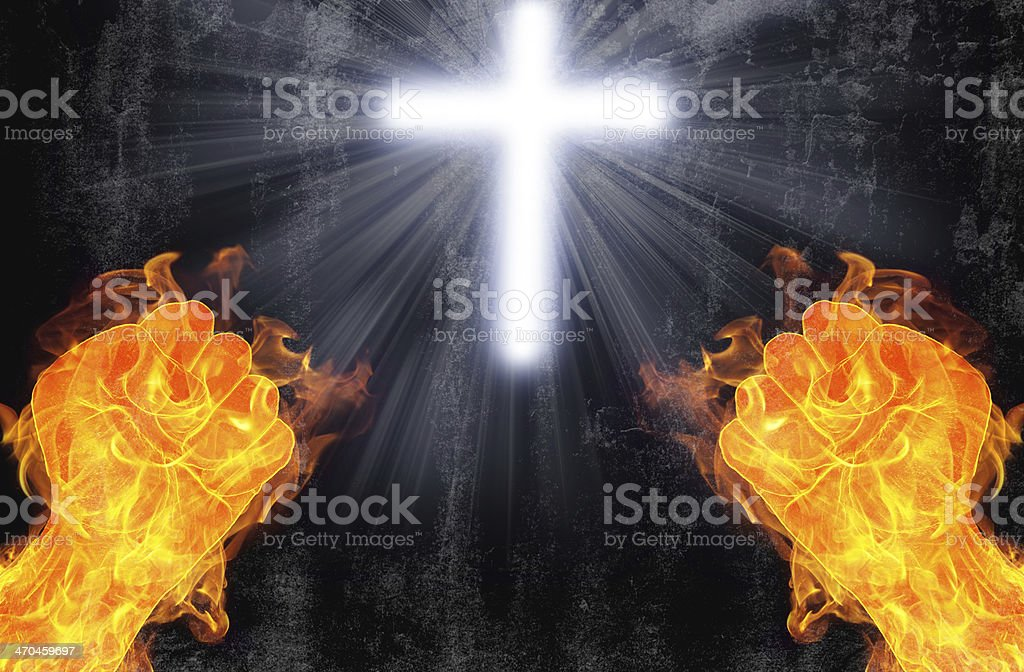 Evil versus Good, Devil vs Angel stock photo
