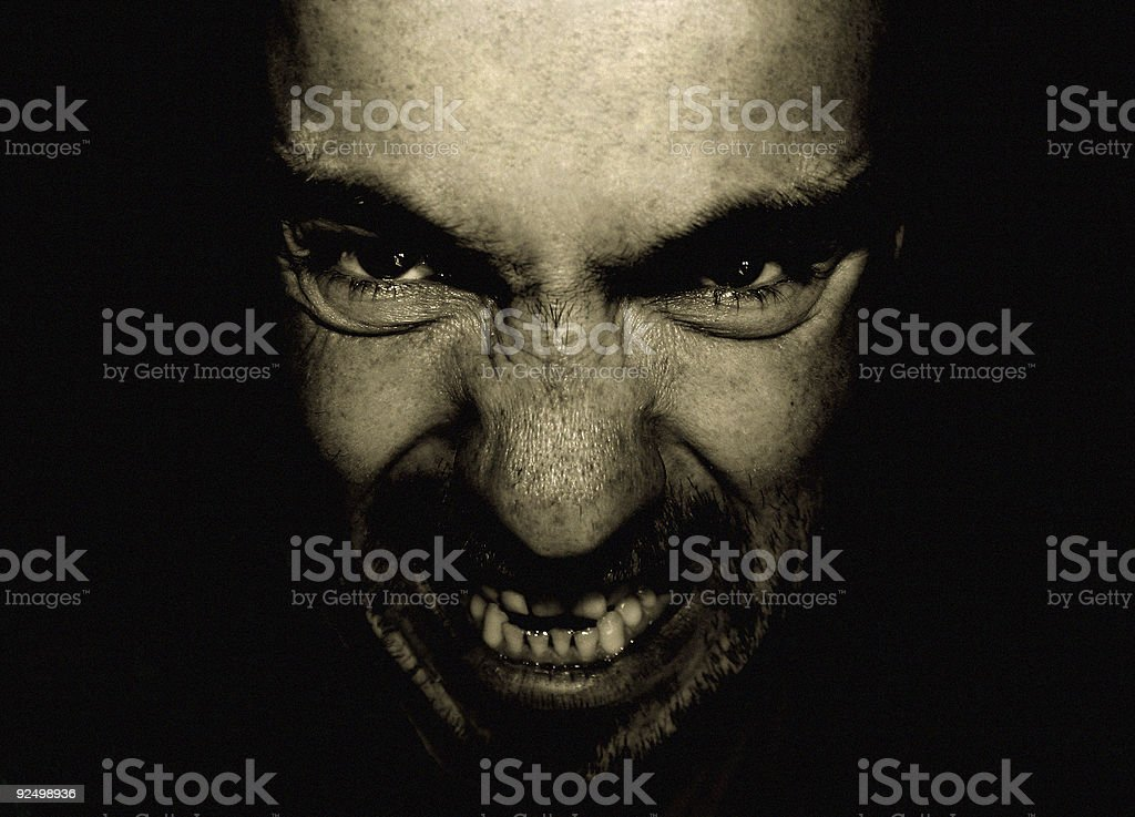 evilface royalty-free stock photo