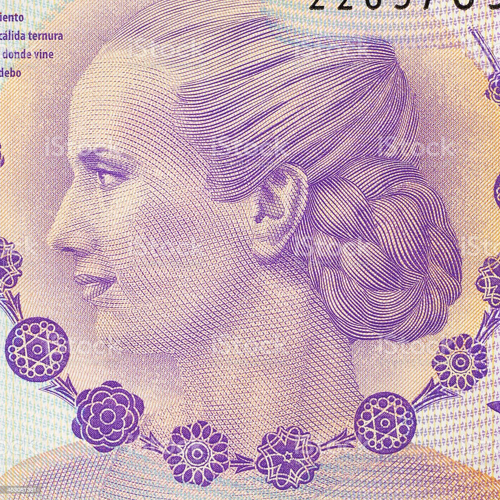 Evita portrait stock photo