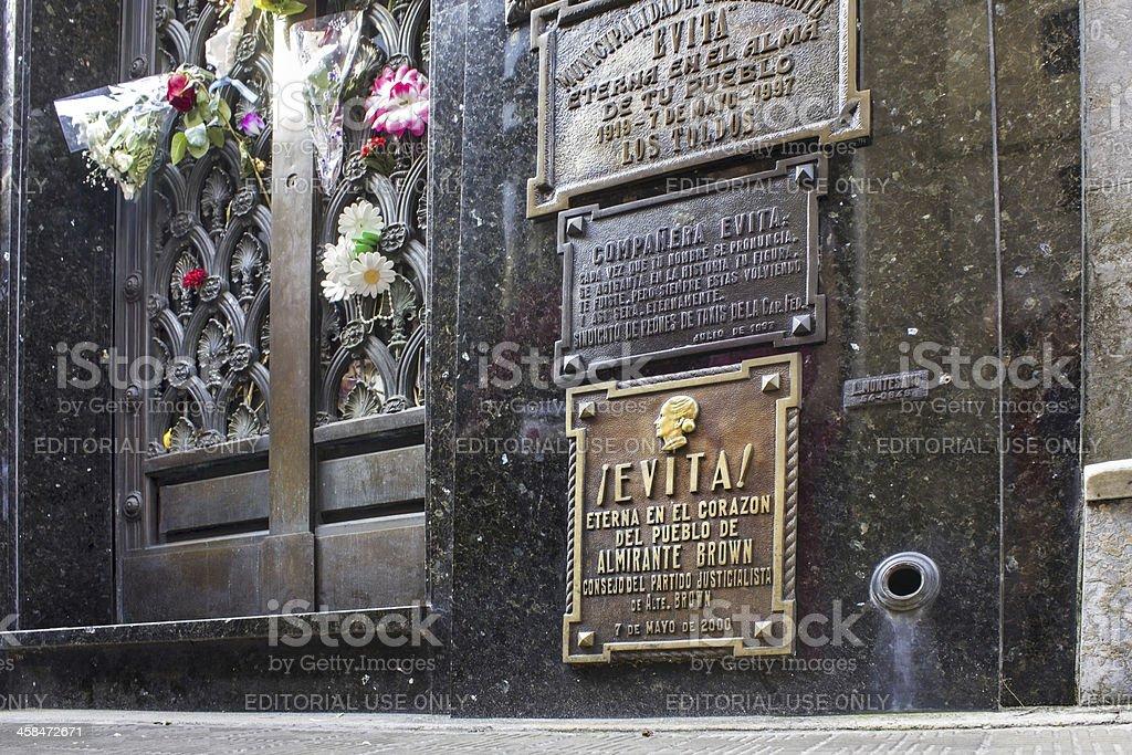 Evita's Mausoleum stock photo