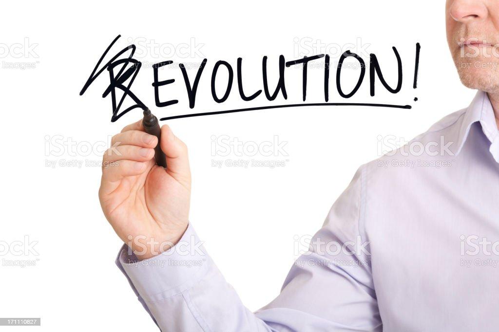 Evolution not Revolution royalty-free stock photo