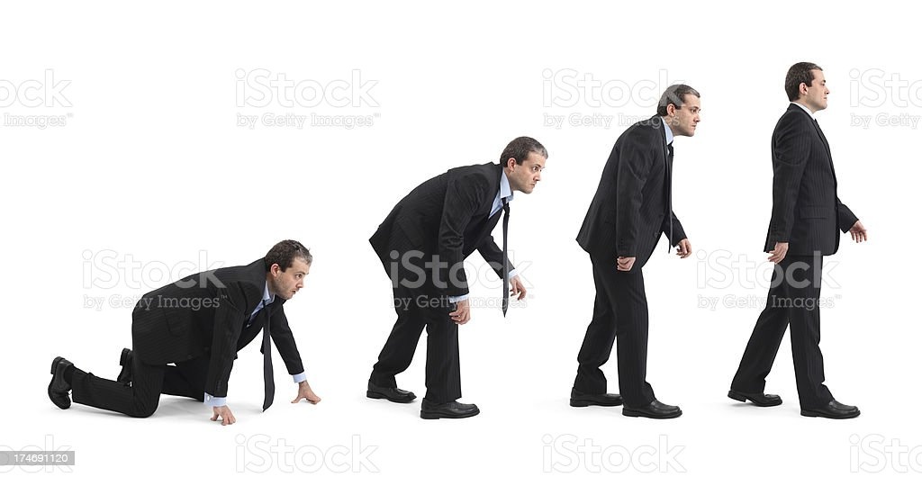 Evolution Of Businessman stock photo