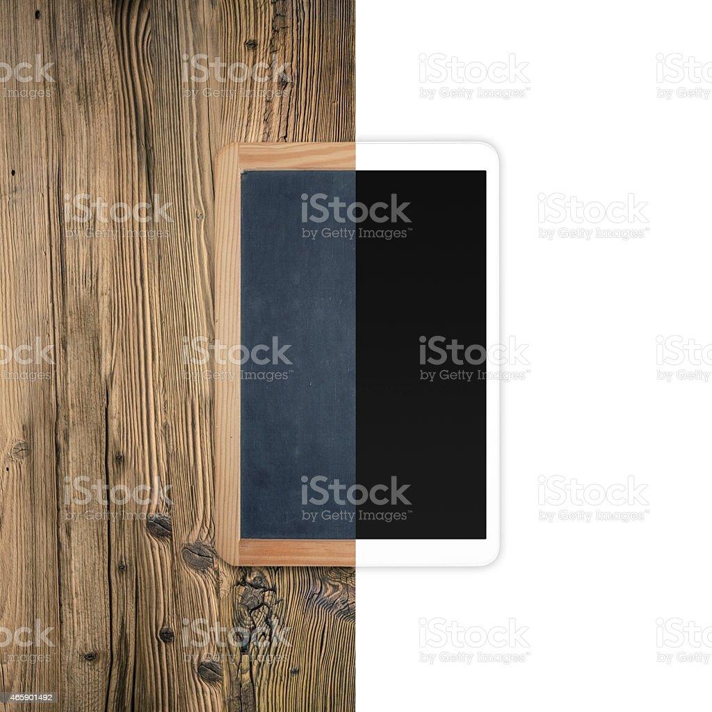 Entwicklung des elektronischen-vintage Tafel und tablet pc – Foto