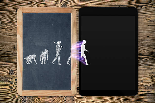 evolution of electronics - darwin stock photos and pictures
