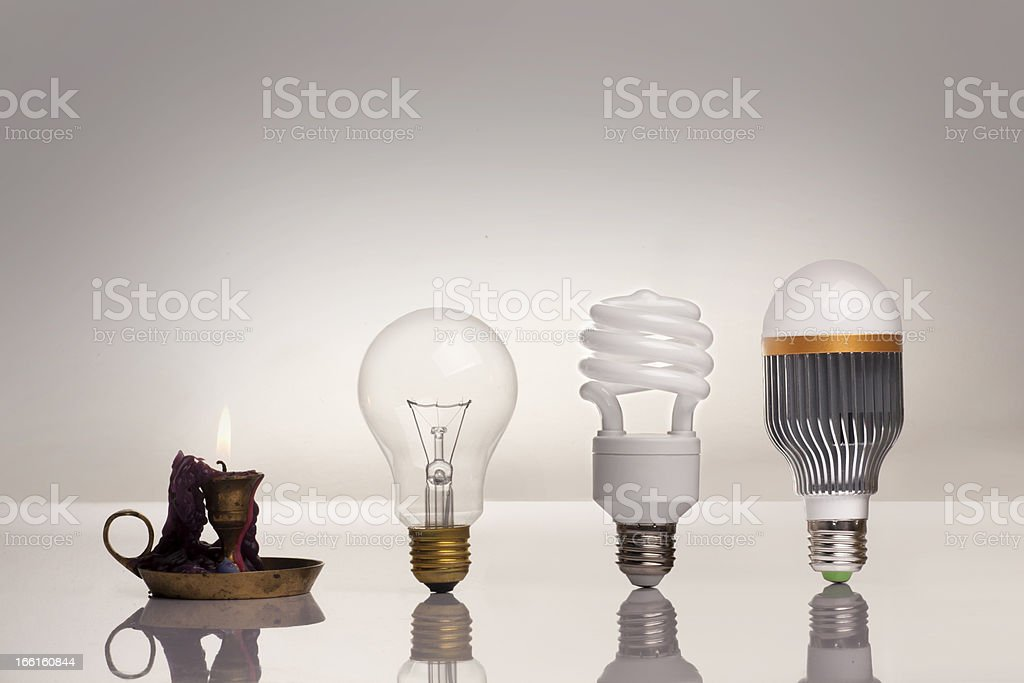 evolution of lighting stock photo