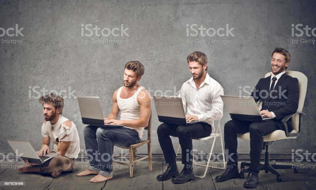 Evolution - Lizenzfrei Bestürzt Stock-Foto