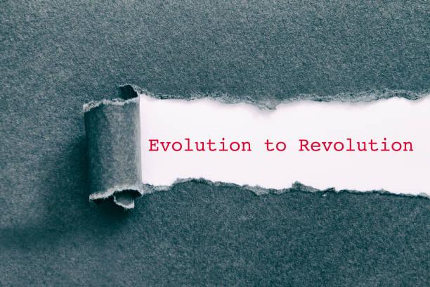 Evolution to Revolution stock photo