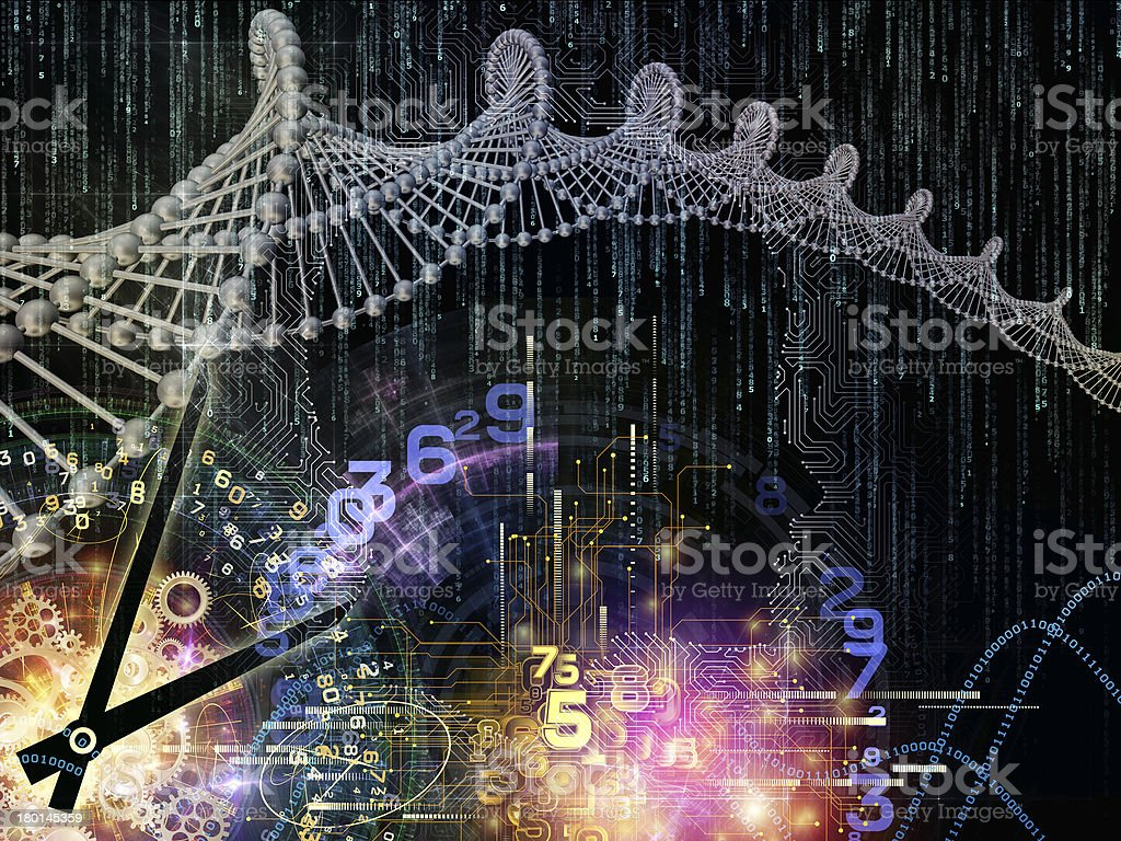 Evolving Circuit Intelligence royalty-free stock photo