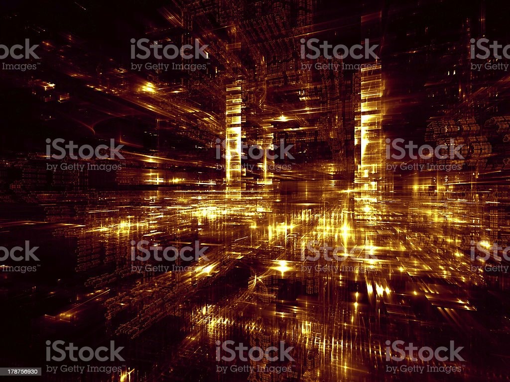 Evolving Fractal Dimensions royalty-free stock photo
