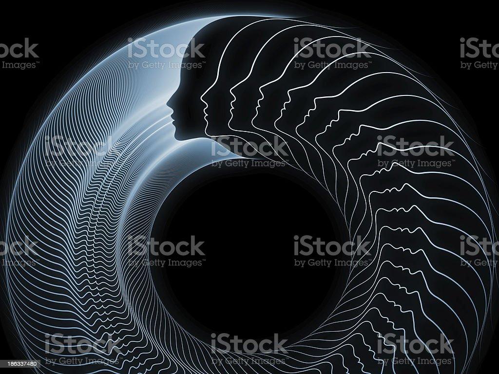 Evolving Soul Geometry royalty-free stock photo