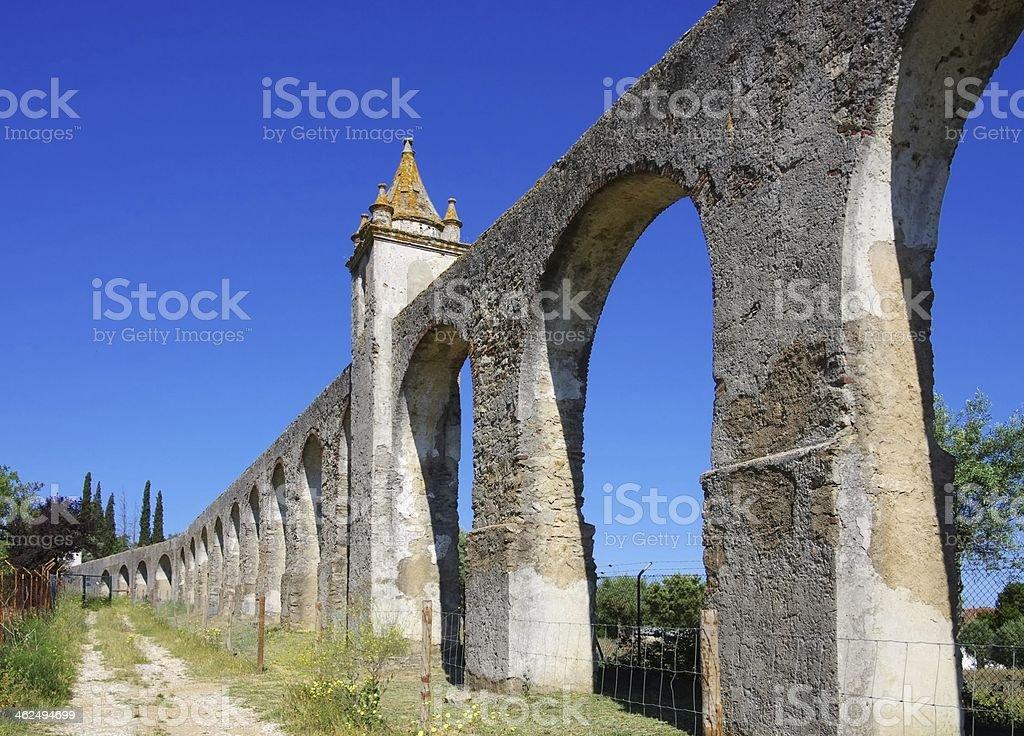 Evora Aqueduct stock photo