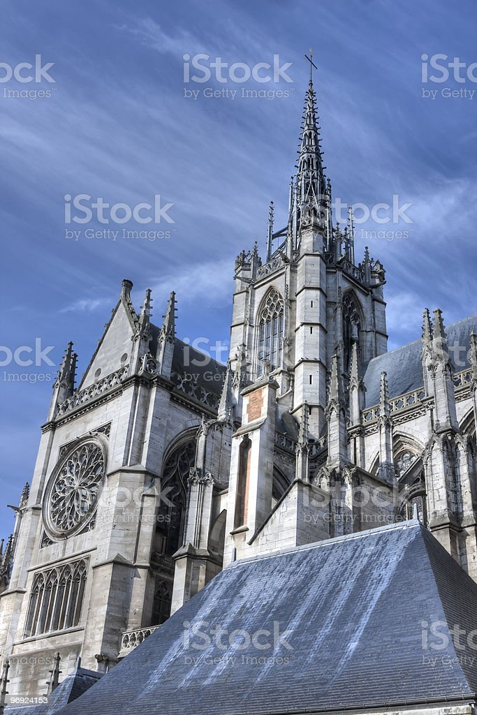 Evreux Cathedral royalty-free stock photo