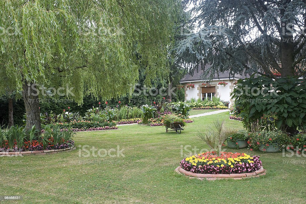 Evron-하우스 및 정원 royalty-free 스톡 사진