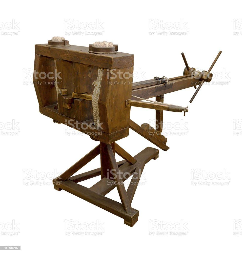 Evtihon (catapult-strelomet) 3rd century BC stock photo