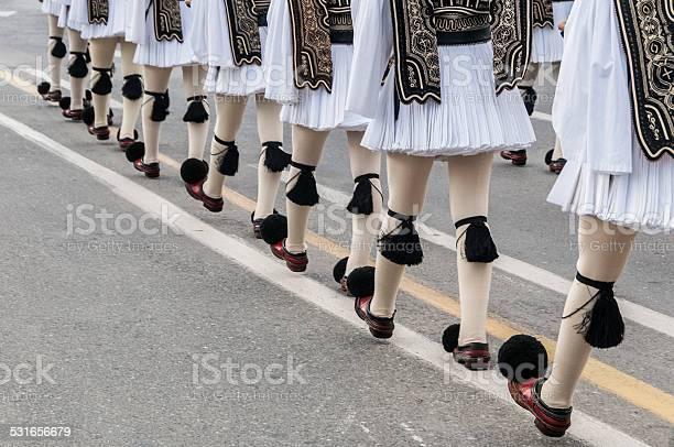 Photo libre de droit de Evzone Mars Au Changement De La Cérémonie De Garde Athènes Grèce banque d'images et plus d'images libres de droit de 2015