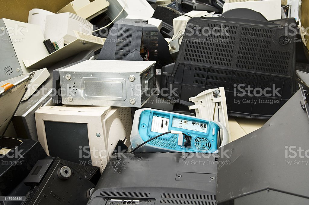 e-waste royalty-free stock photo
