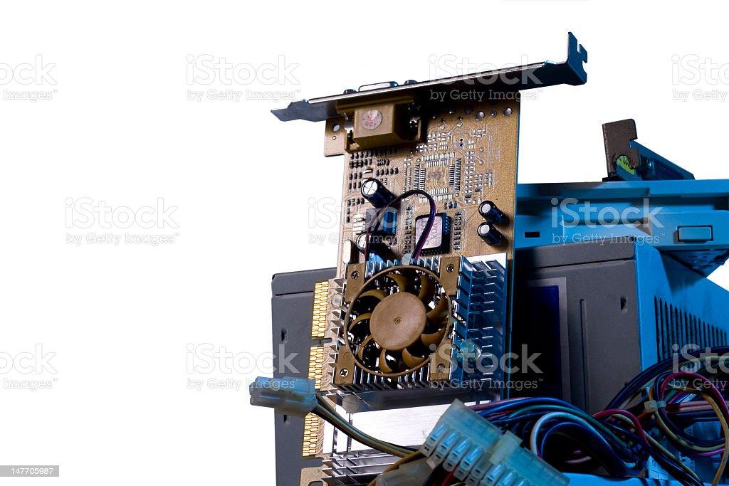 E-Waste with white backgorund stock photo