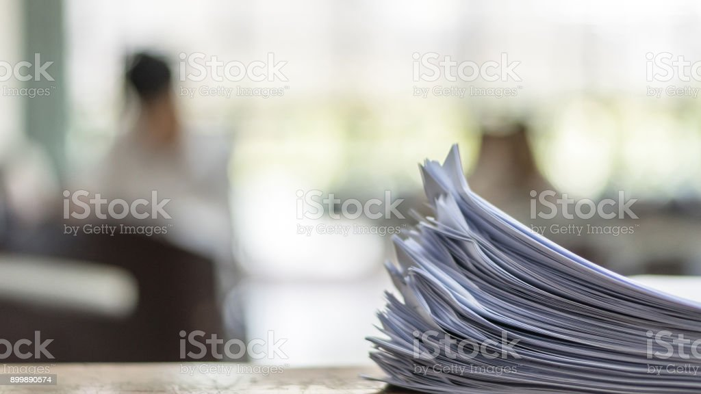 Exam Answer sheet in exam room stock photo