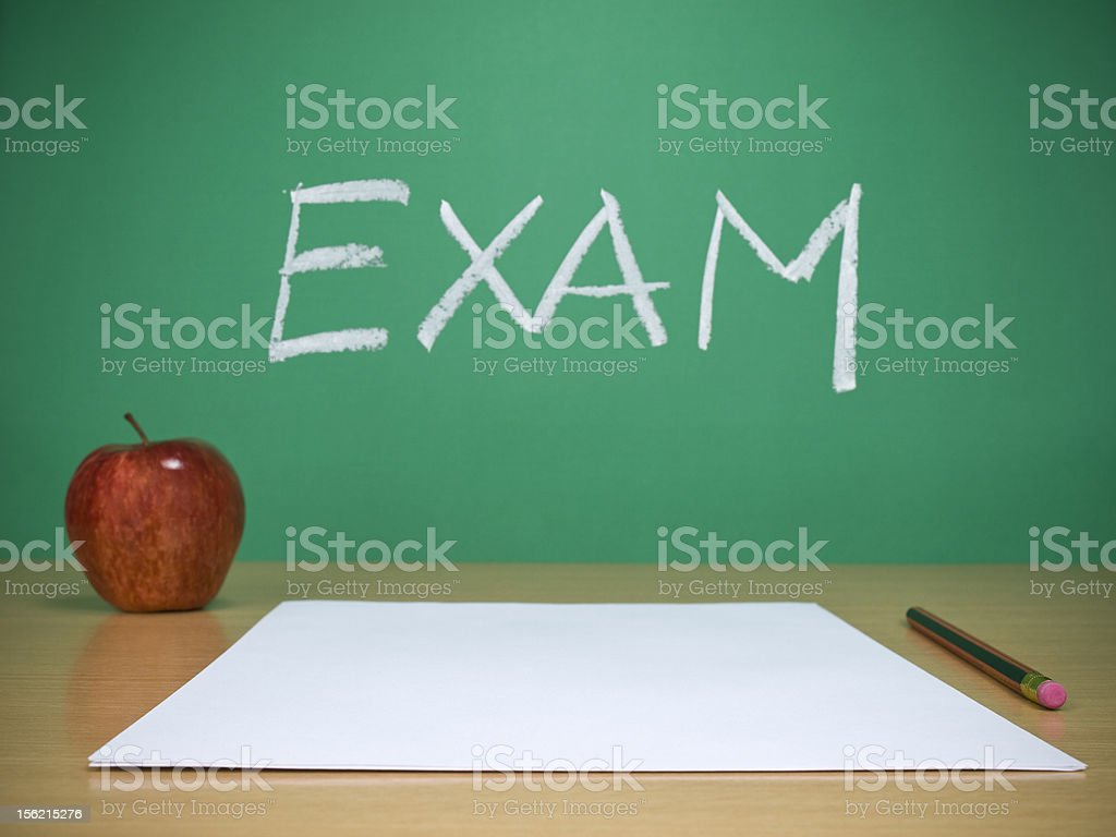 Exam royalty-free stock photo