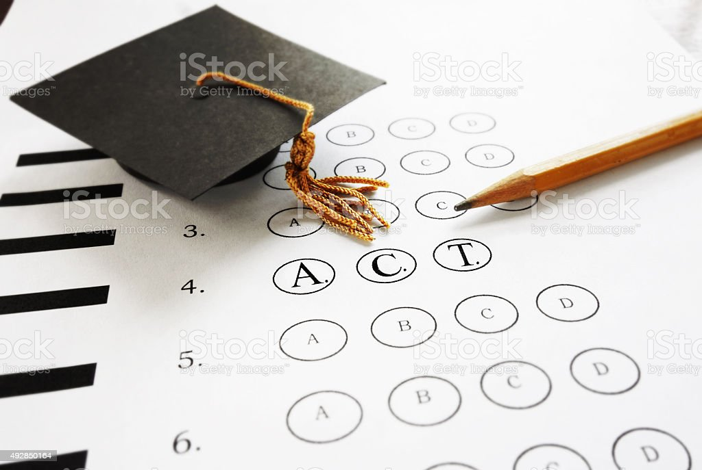 ACT exam stock photo