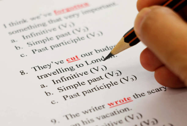 exam - english foto e immagini stock