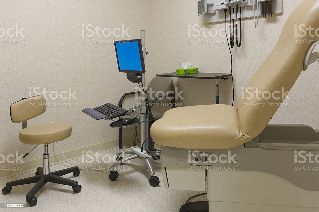 A well laid out exam room in a healthcare facility. The computer is...
