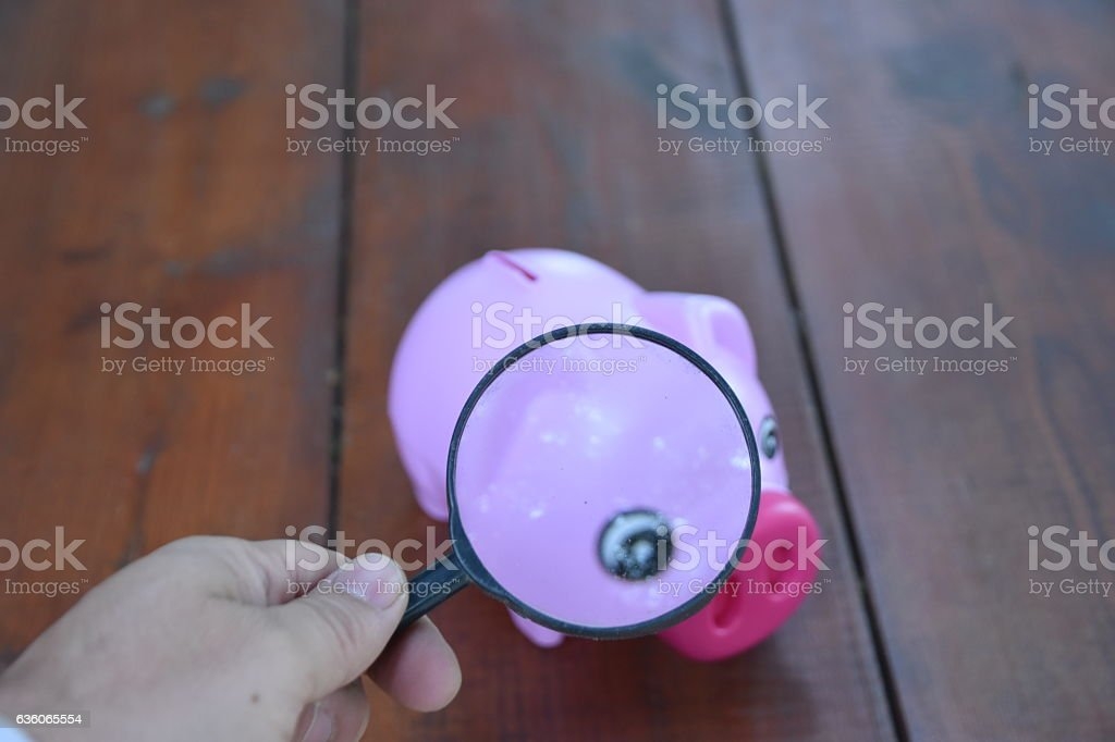 Examination of financial investments stock photo