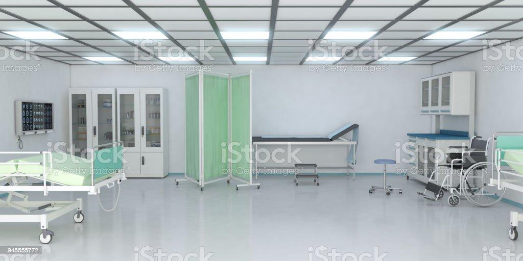 Examination Room In Hospital stock photo