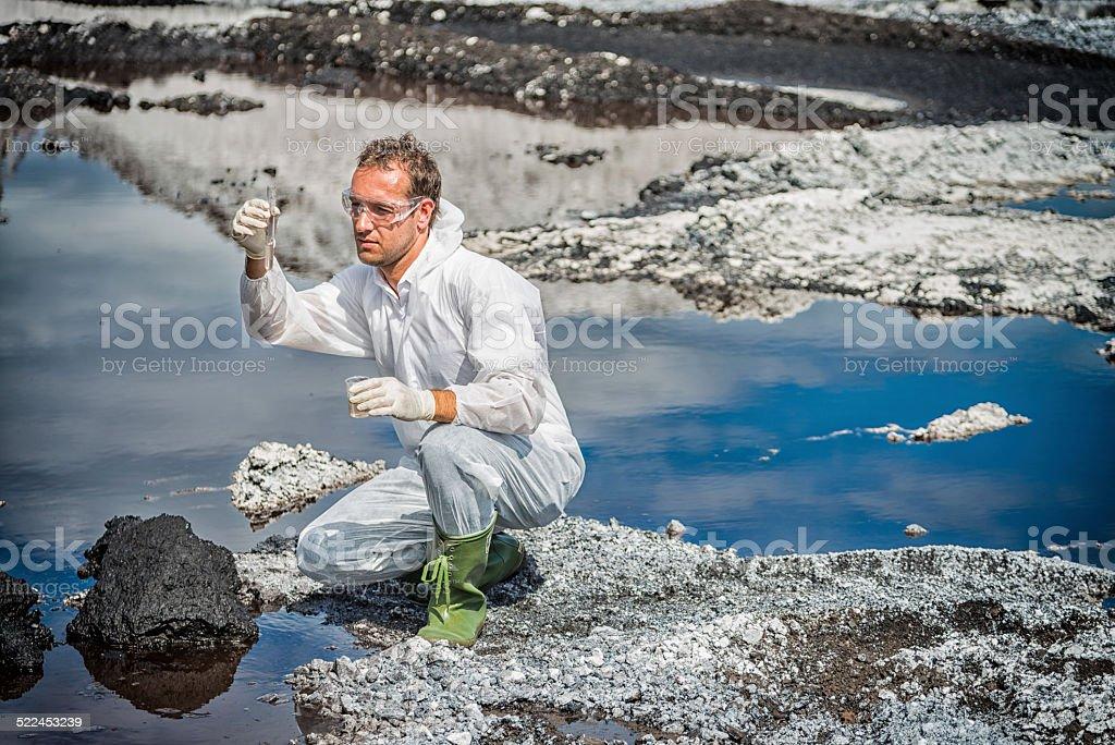 Examing Water stock photo