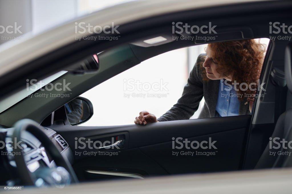 Examining car royalty-free stock photo