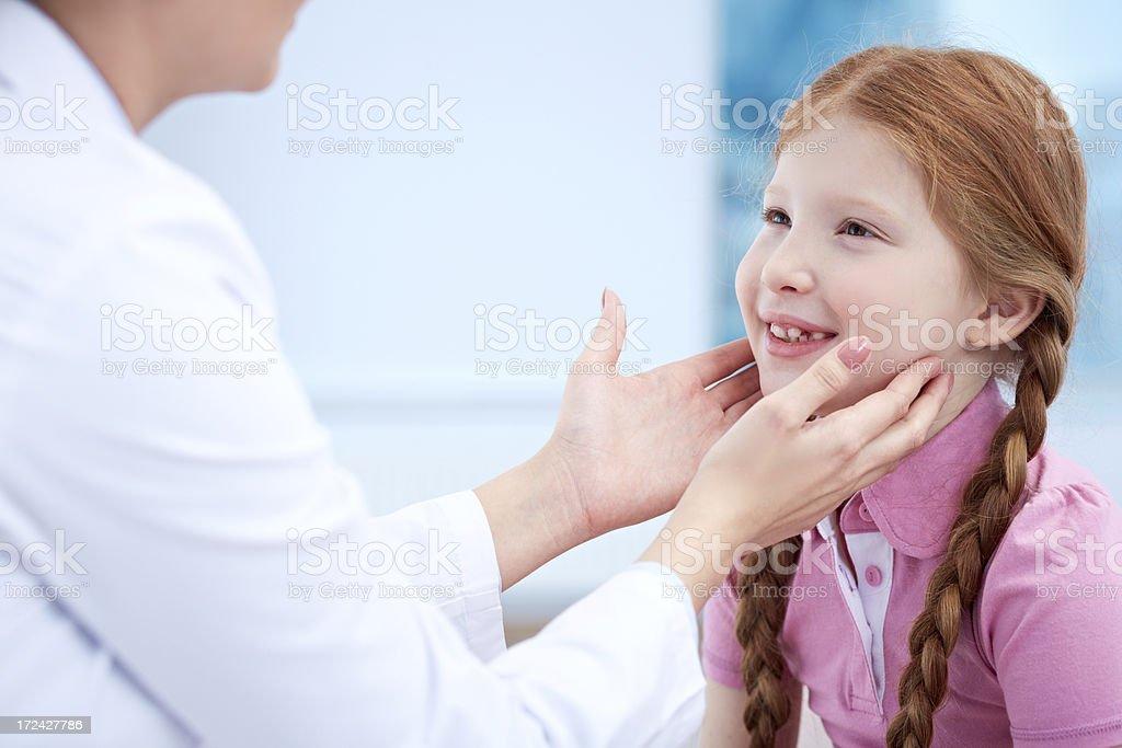 Examining glands stock photo