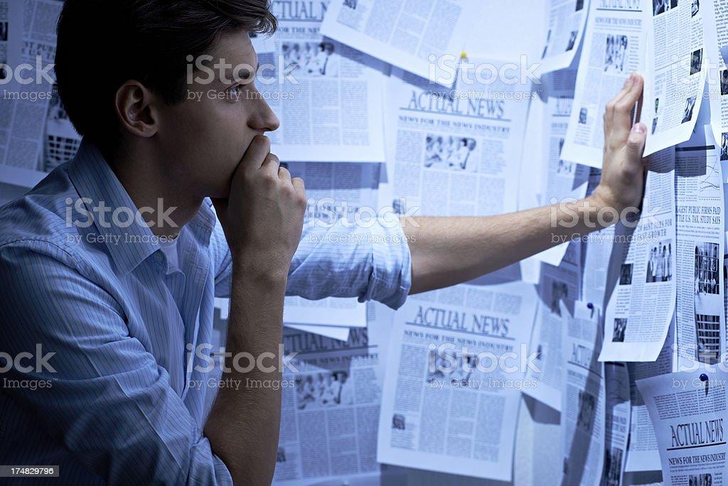 Examining information stock photo