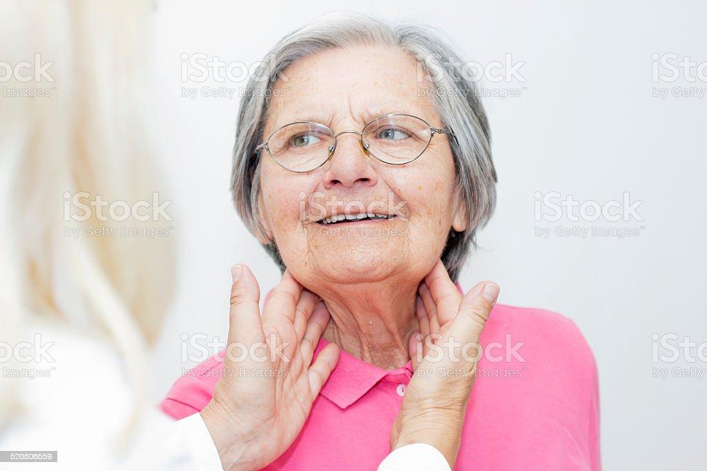 Examining  patient stock photo