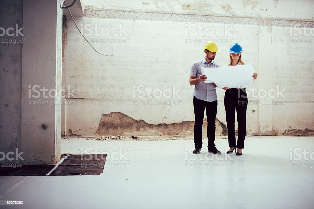 Examining stock photo