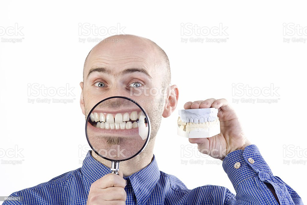 Examining teeth  Adult Stock Photo
