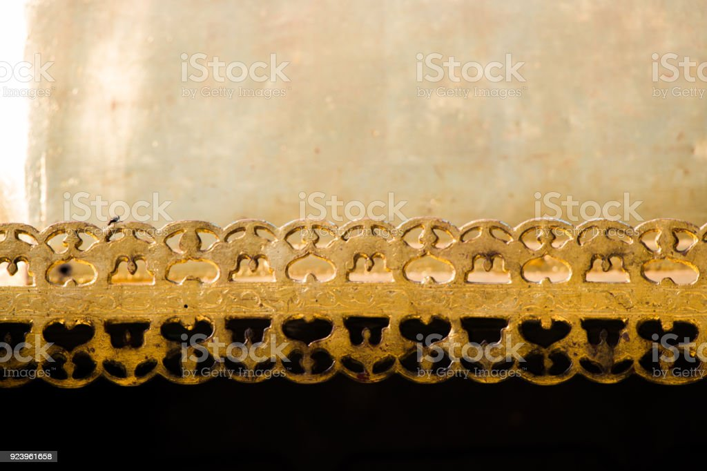 Example of art patterns on metal stock photo