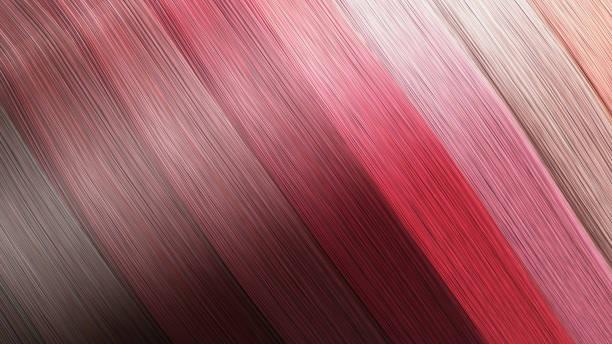 beispiel für verschiedene haarfarben als hintergrund 3d render auf weiß - haarfarbe ohne ammoniak stock-fotos und bilder