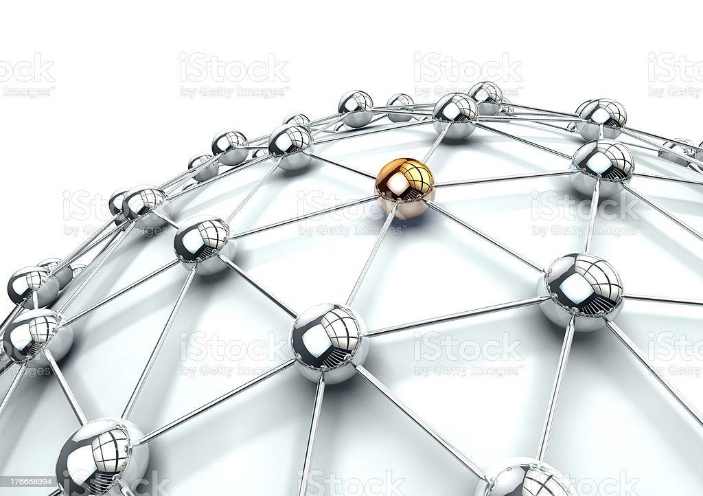 Example of how networks are connected to the Internet royalty-free stock photo