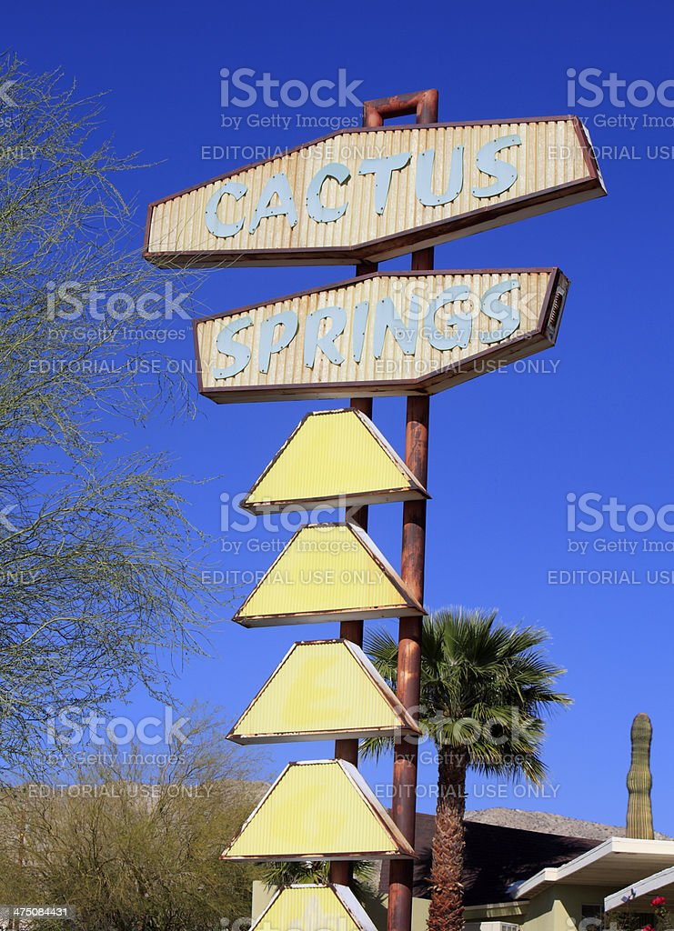 Example Of Legendary Mid Century Commercial Signage stock photo