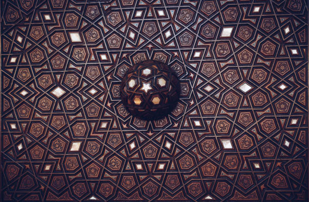 Example of Mother of Pearl inlays Ottoman art example of Mother of Pearl inlays inlay stock pictures, royalty-free photos & images