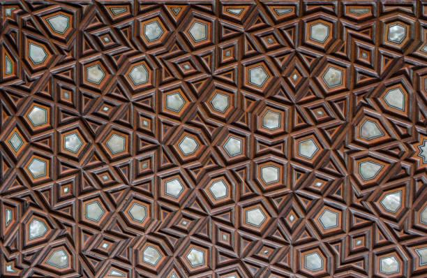 Example of Mother of Pearl inlays Ottoman art example of Mother of Pearl inlays from Istanbul inlay stock pictures, royalty-free photos & images