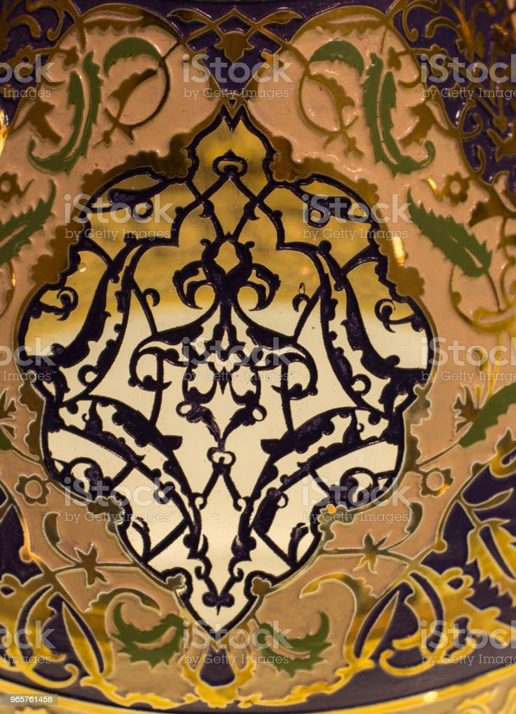 Voorbeeld van Ottomaanse kunst patronen in beeld - Royalty-free Antiek - Ouderwets Stockfoto