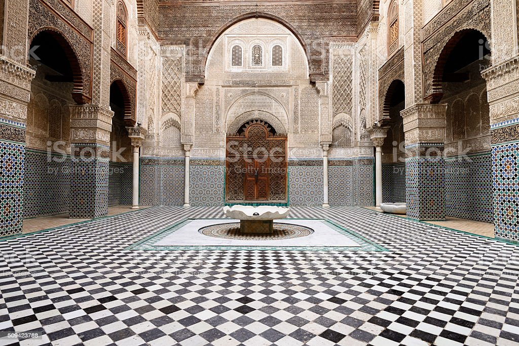 Examples of Moroccan architecture stock photo