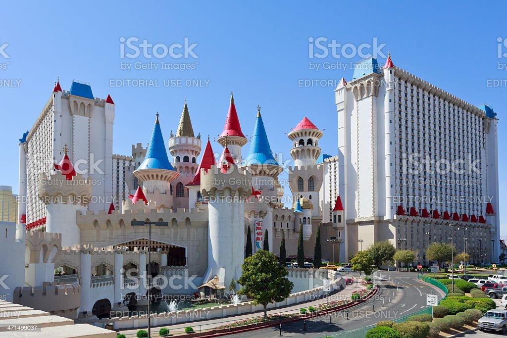 Excalibur Hotel and casino stock photo