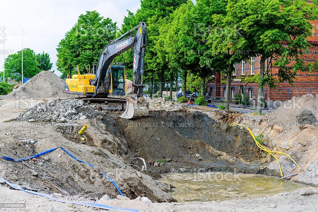 Excavating stock photo