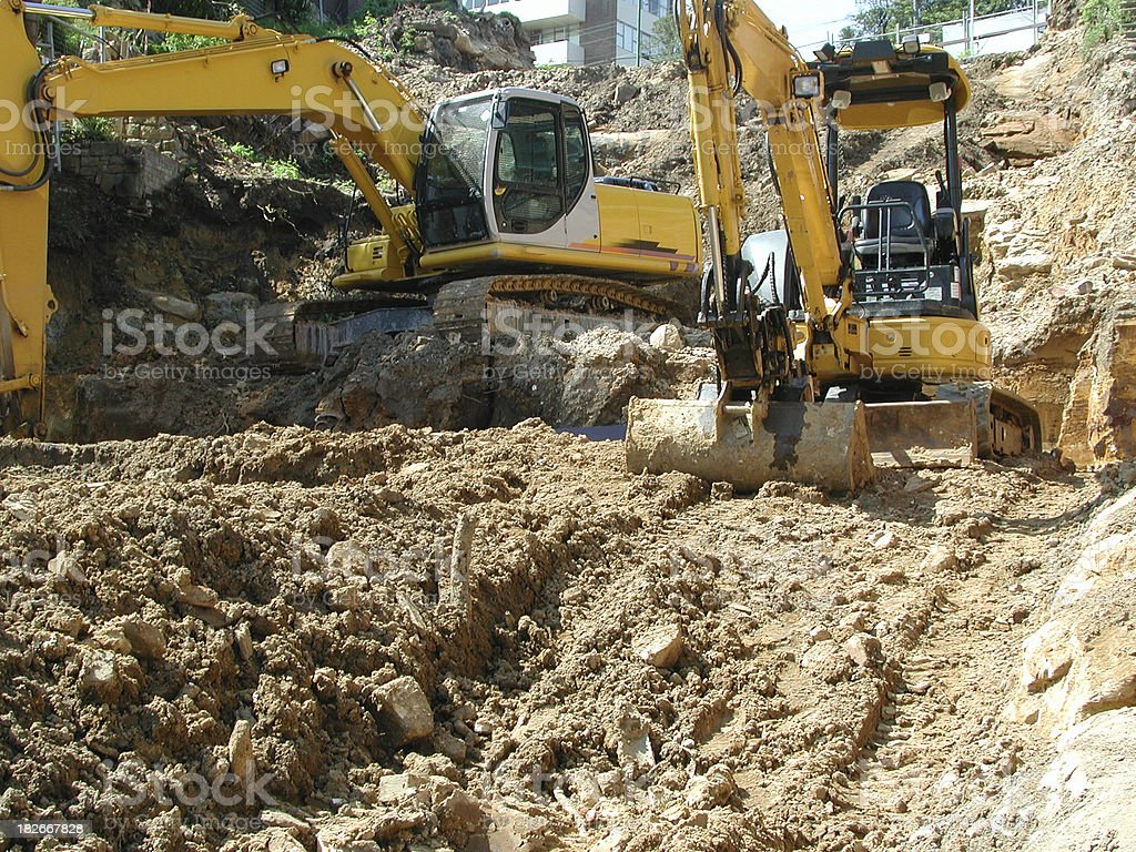 Excavation in progress royalty-free stock photo