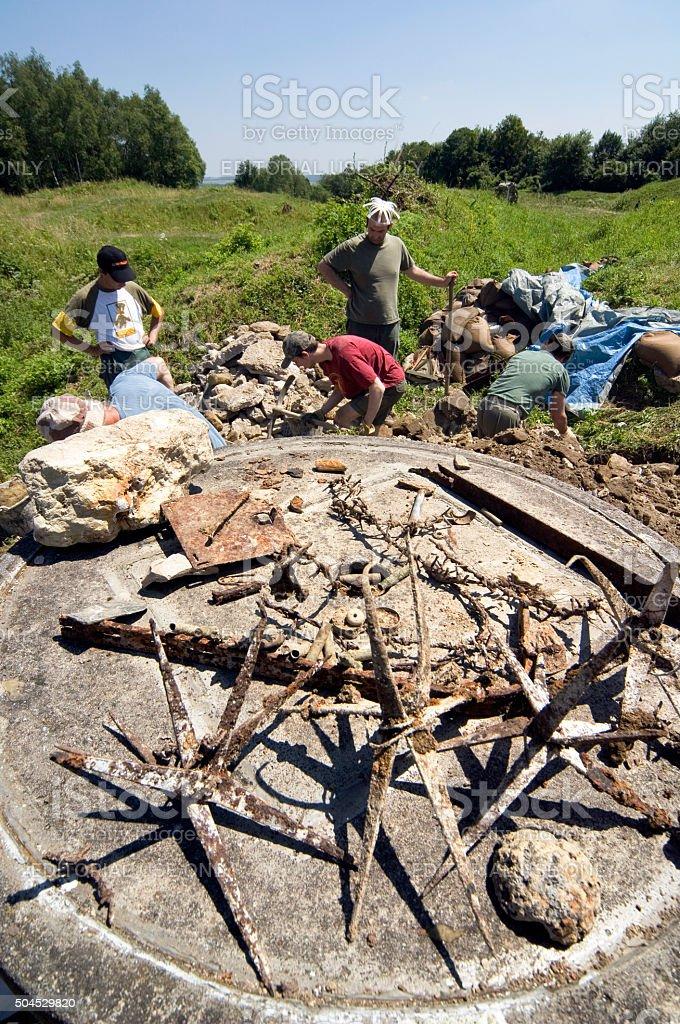 Excavation wojny światowej 1 Rów w pobliżu Verdun Francja – zdjęcie