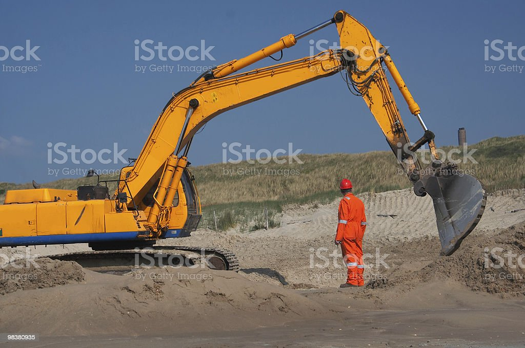 Excavation royalty-free stock photo